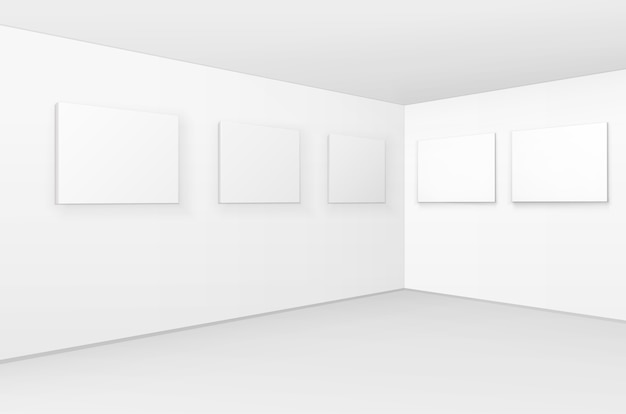 Пустой пустой белый макет плакатов картины рамок