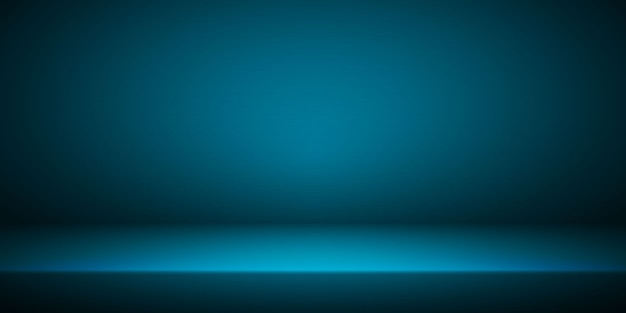 Пустой синий интерьер комнаты студии.