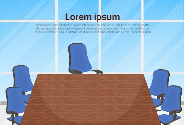 Empty board room office for business meetings template background