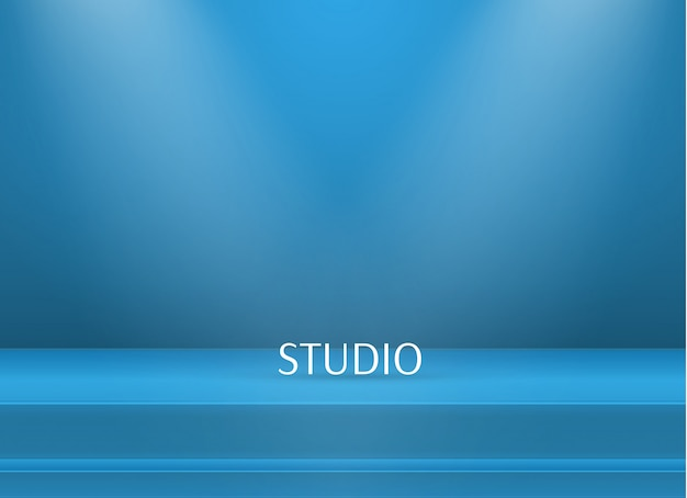 Empty bright color studio table background