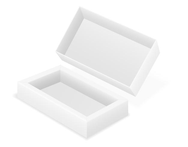빈 골 판지 상자 포장 빈 서식 파일
