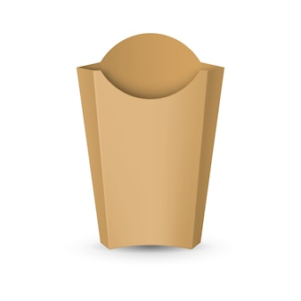 Empty carton packaging for french fries. fast food icon for  template