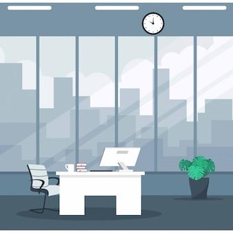Empty ceo office interior