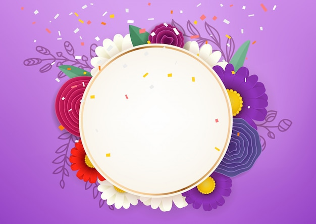 Empty circle frame sale vector concept. photoreal vector layered illustration