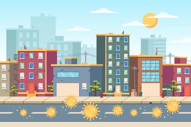 Empty city coronavirus pandemic