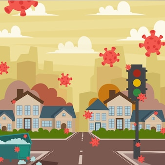 Empty city illustration