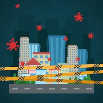 Città vuota illustrazione