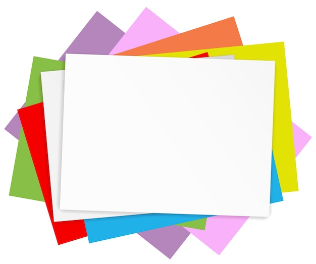 Empty colored papers