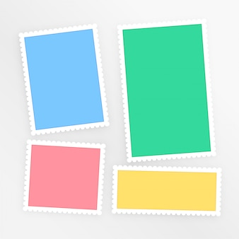 Empty colorful scrapbook papers set