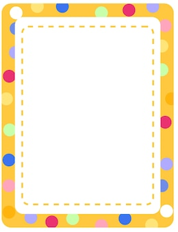 Empty colourful frame banner template
