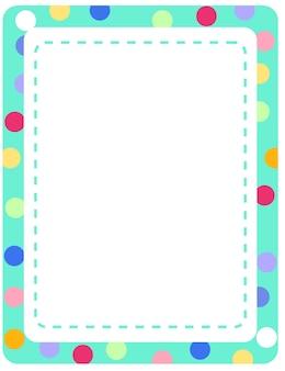 Пустая красочная рамка баннер шаблон