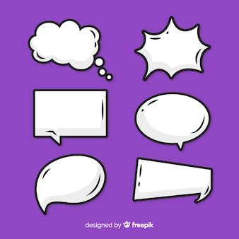 Empty comic speech bubble pack