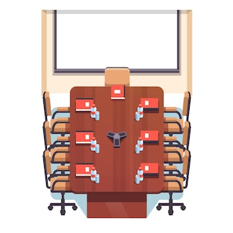 Пустой конференц-зал
