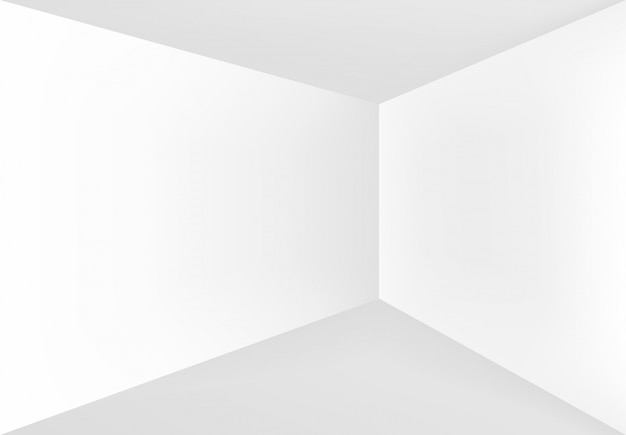 Пустой угол в белой комнате.