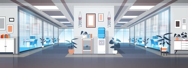 Пустая зона коворкинга нет людей открытое пространство современный офис интерьер иллюстрация