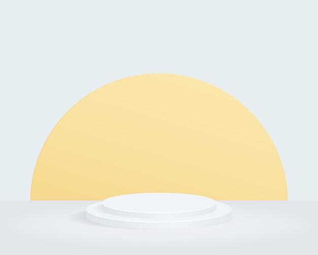 Пустой цилиндр подиума. дизайн для презентации продукта.