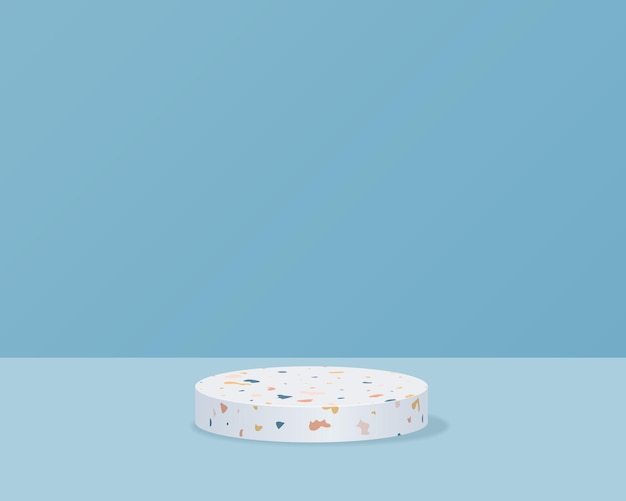最小限の背景に空のシリンダー表彰台幾何学的な形で抽象的な最小限のシーン製品プレゼンテーションのデザイン3dベクトル図