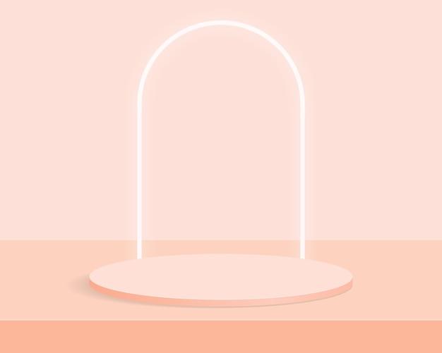 Подиум пустой цилиндр на минимальном фоне. абстрактная минимальная сцена с геометрическими формами. дизайн для презентации продукта. 3d