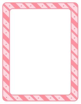 Modello di banner cornice vuota strisce diagonali