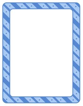 Empty diagonal stripes frame banner template