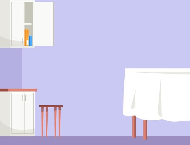 Empty dining room semi   illustration