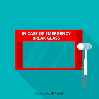 Empty emergency box concept