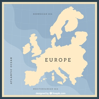 空のヨーロッパ地図デザイン