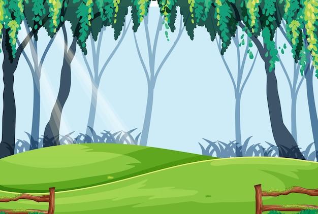 空のおとぎ話の森のシーン