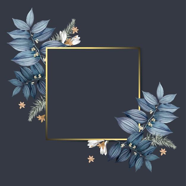 Empty floral frame design vector
