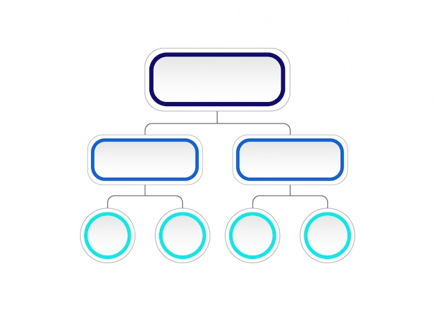 Empty flowchart diagram. infographic template with 3d paper label, integrated circles. business concept with options.