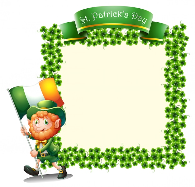An empty frame for st. patrick's day Free Vector