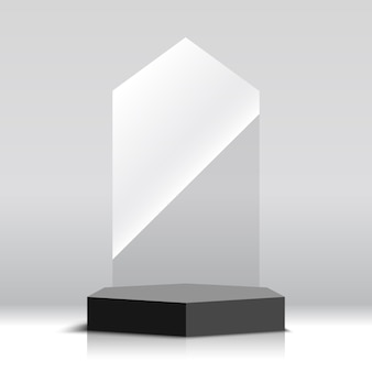 Награда трофей пустой стакан. иллюстрации.