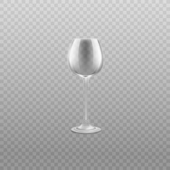 高い脚の現実的なイラストの空のグラスワイングラス。