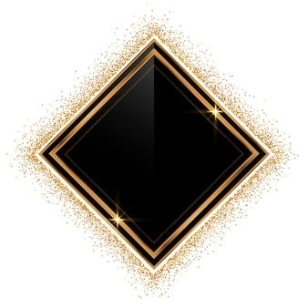 Sfondo cornice dorata glitterata vuota