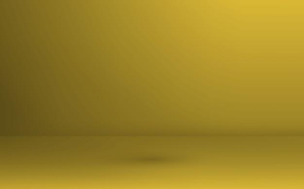 Empty gold studio room