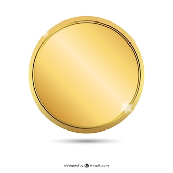 Empty golden badge