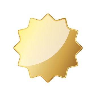 Empty golden seal icon. vector illustration