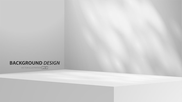 Empty gray studio table room and light backgound. product display with copy space for display of content design.banner for advertise product on website.