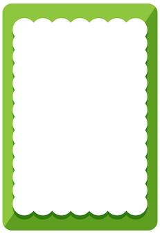 Шаблон баннера пустой зеленый завиток