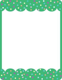 빈 녹색 컬 프레임 배너 서식 파일
