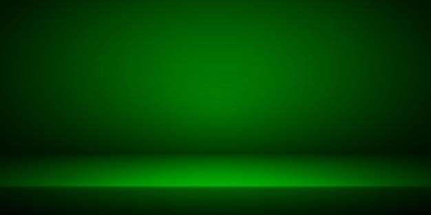 빈 녹색 스튜디오 룸 인테리어입니다.