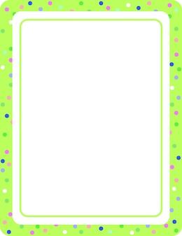 빈 녹색 세로 프레임 템플릿