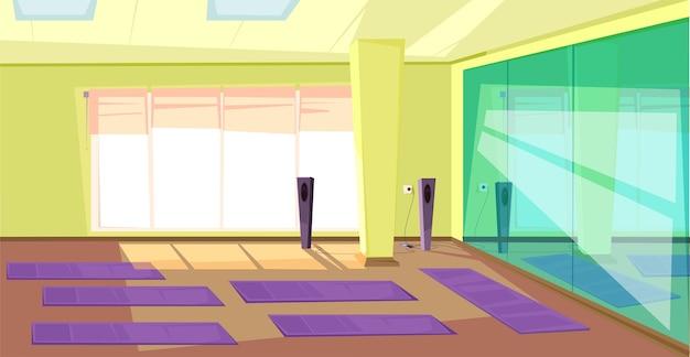 Empty gym illustration illustration