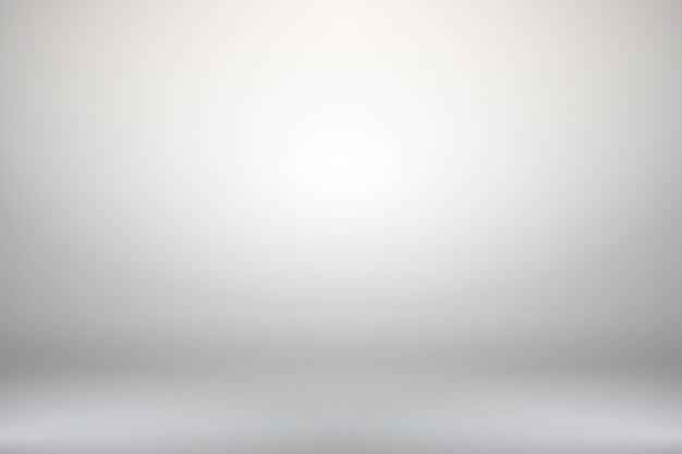 空の水平の抽象的な白いグラデーションの背景照明付きの部屋のスタジオテクスチャボックス