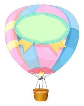 Empty hot air balloon illustration on a white background