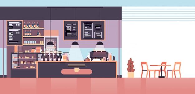 Empty interior modern cafe