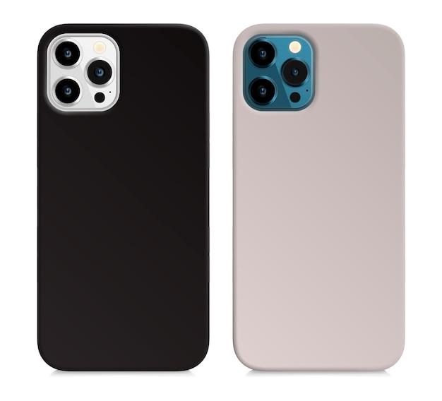 빈 아이폰 흑백 커버