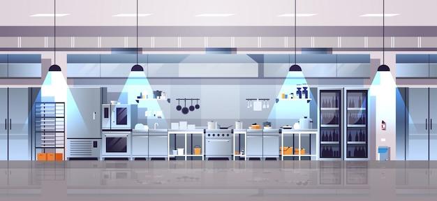 Empty kitchen in modern cafe interior