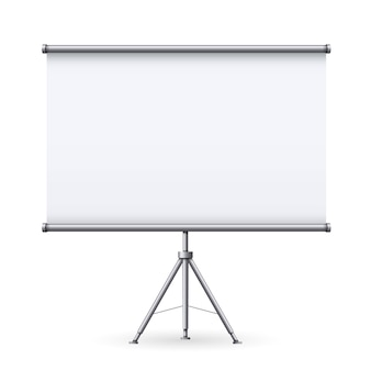 Empty meeting projector screen, presentation.