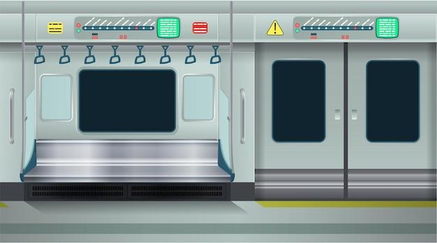 Empty metro. cartoon vector illustration. seamless background.